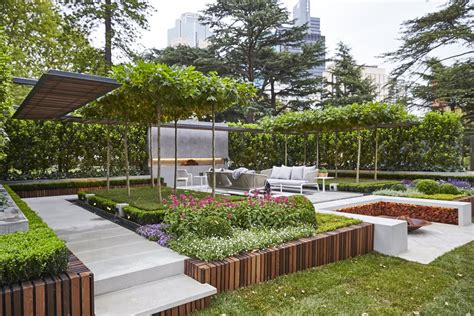 architectural garden design ideas landscape architect wins melbourne show garden gold medal with living pergola creation