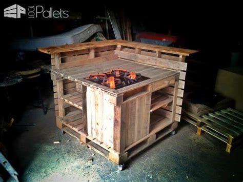 pallet mobile kitchen island  pallets