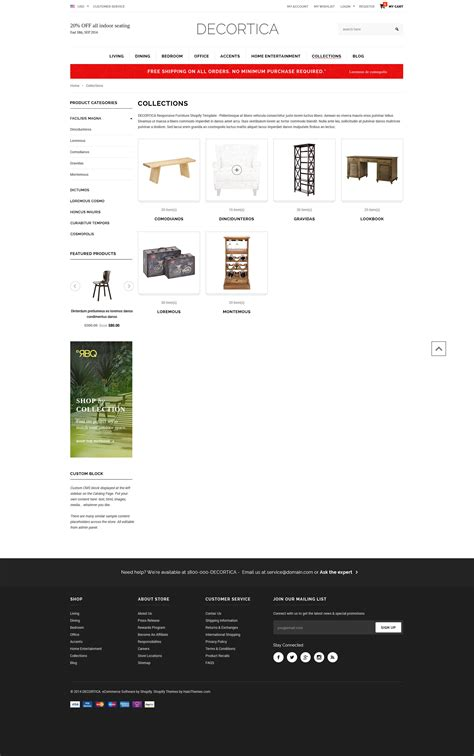 shopify website templates decortica responsive shopify template halothemes