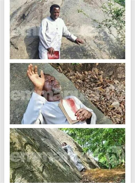 This ministry he explains, was a directive from god who anointed him. #Covid-19: Pastor TB Joshua Visits mountain for prayer session against virus (Video) - OGa Boss ...