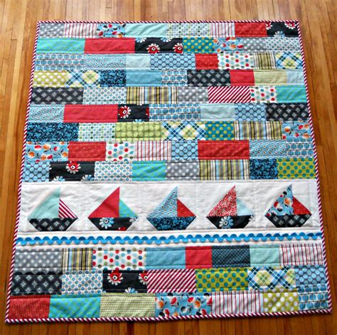 Sailboat Quilt by Quilts On Pinterest Quilt Patterns Baby Quilts And Quilting