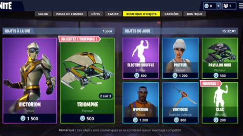 fortnite boutique du  mai millenium