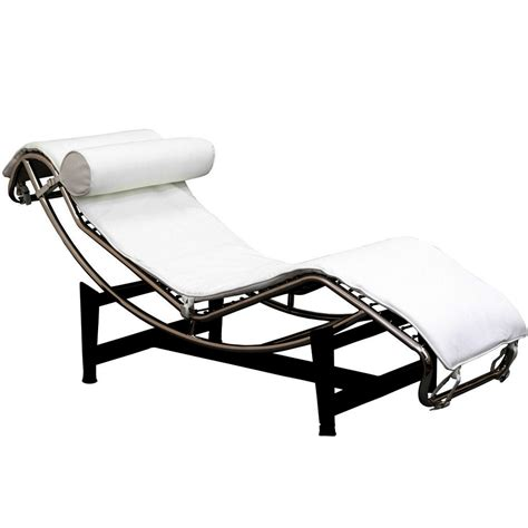 le corbusier style chaise black leather chaise lounge