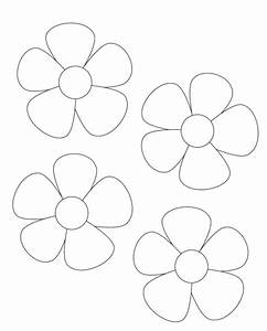 flower template cut out az coloring pages With paper cut out templates flowers