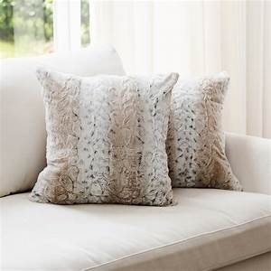Cheer, Collection, Embossed, Faux, Fur, Throw, Pillows