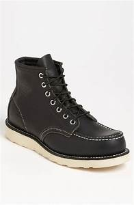 Red Wing Shoes France : red wing 39 moc 39 boots in black for men lyst ~ Melissatoandfro.com Idées de Décoration