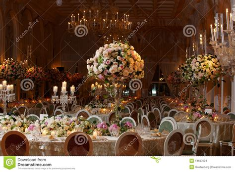 Classy Wedding Setting Stock Photo. Image Of Setting