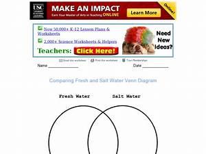 Comparing Fresh And Salt Water  Venn Diagram Graphic