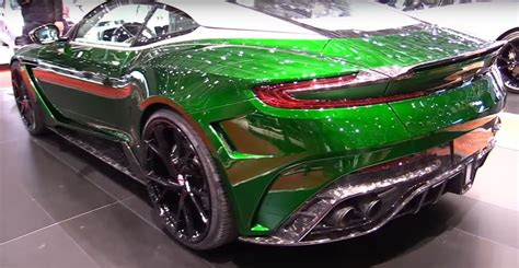 green aston martin db11 aston martin db11 tuned by mansory is covered in forged