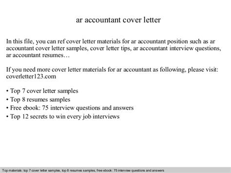 Ar Application Resume by Ar Accountant Cover Letter