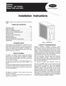 Carrier Infinity Touch Control Installation Manual