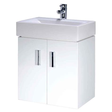 450mm Vanity Unit by Checkers 450mm Bathroom Wall Mounted Vanity Unit White