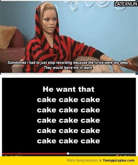 Song Lyric Memes - rihanna song lyrics meme funny pictures