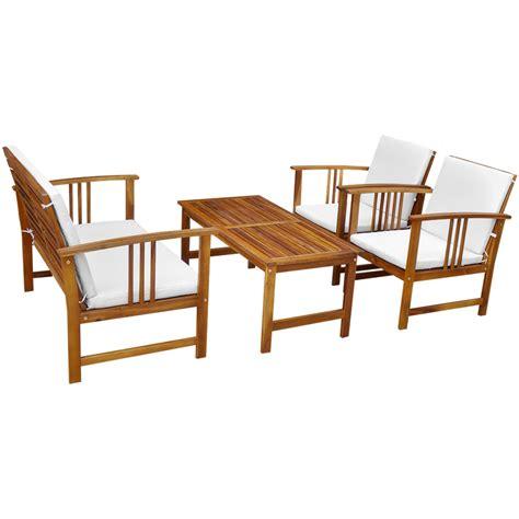 wood ten garden furniture set acacia wood lovdock