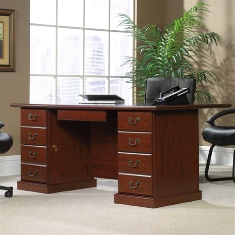 sauder heritage hill large executive desk hutch heritage hill large executive desk 109843