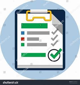 Checklist Flat Icon Stock Photo 296640818 : Shutterstock