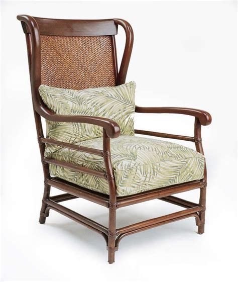 rattan wing back colonial