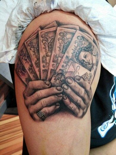 money money money black  grey tattoo rough diamond