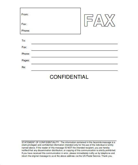 fax cover sheet confidential  printable letterhead