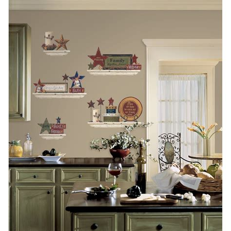 Kitchens With Open Shelving Ideas - country kitchen wall decor ideas kitchen decor design ideas