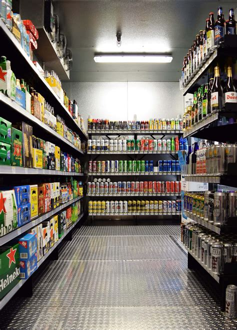 beer cave shelving    shelving systems