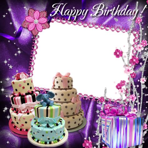 birthday collage frame  png image png