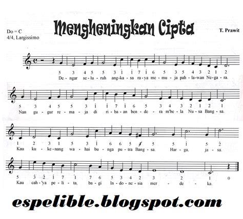 lirik lagu mengheningkan cipta dan notasinya espelible s lirik dan not lagu mengheningkan cipta