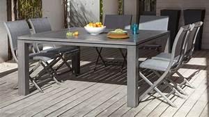 Table Pour Terrasse : table latino 155 ice table oc o le jardin inspir mobilier de jardin tables chaises ~ Teatrodelosmanantiales.com Idées de Décoration