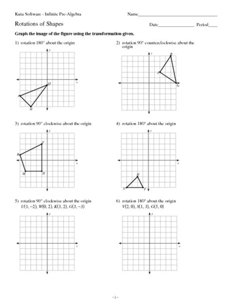 Geometry Rotation Worksheet Worksheets For All  Download And Share Worksheets  Free On