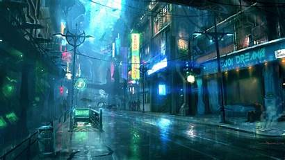 Cyberpunk Artwork Street Wallpapers Wallhere