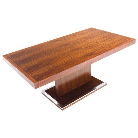 dining table pedestal base mid century modern rectangular pedestal base walnut dining