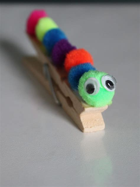 clothespin crafts caterpillar clothes pin craft tutorial frugal fanatic