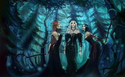 Witch Gothic Fantasy Witches Spooky Artwork Forest