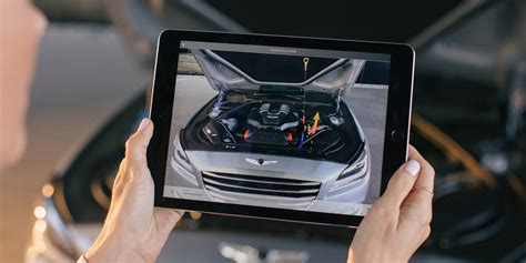 genesis ditches conventional car manual  augmented reality app video tomac