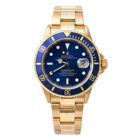 Rolex Pre-owned Rolex Submariner Automatic Blue Dial Men's ...