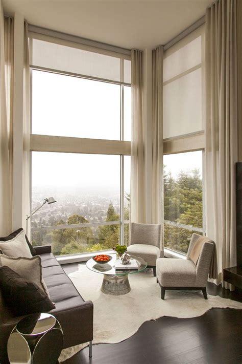 blind curtains modern corner sitting area cream curtain