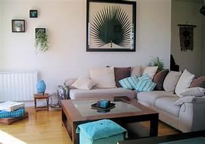 Deco Interieur Zen : d coration salon turquoise exemples d 39 am nagements ~ Melissatoandfro.com Idées de Décoration