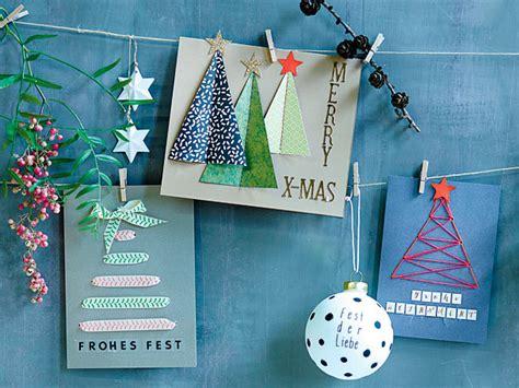 weihnachtskarten selber basteln die schoensten diy ideen