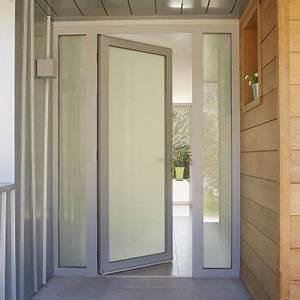 porte d entree en verre aluminium pour batiment tertiaire With porte d entrée alu avec quel parquet pour salle de bain