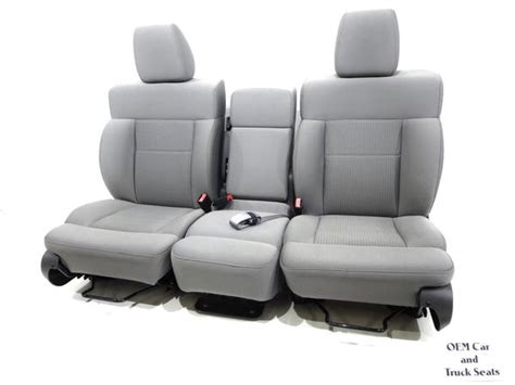 Replacement Ford F150 F-150 Grey Cloth Oem Seats Regular