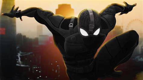 spider man   home stealth suit fondo de pantalla