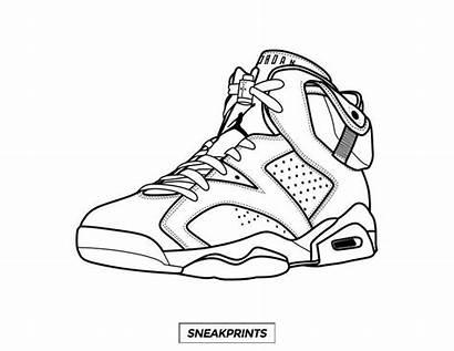 Coloring Sneaker Travis Scott Jordan Own Nike