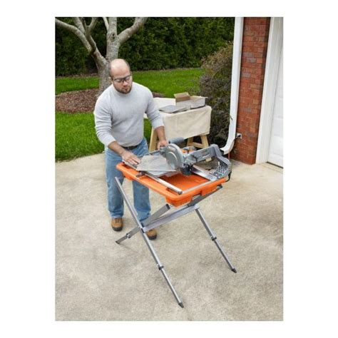 Ridgid Tile Saw Stand by Ridgid 7 In Tile Saw With Stand R4030s Vip Outlet