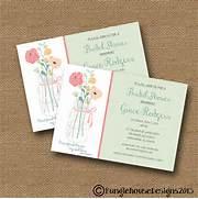Bridal Shower Wedding Invitation DIY PRINTABLE Floral Wedding Cards Print Free At Blue Mountain Bridal Shower Card Message Wedding Card Messages I Bridal Shower Wedding Invitation DIY PRINTABLE Floral
