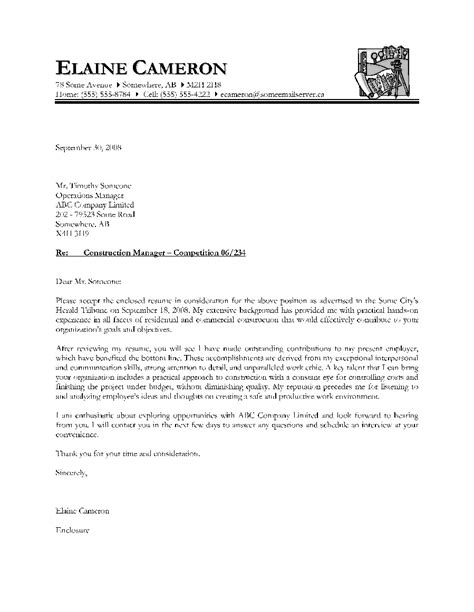 cover letter sle canada the best letter sle