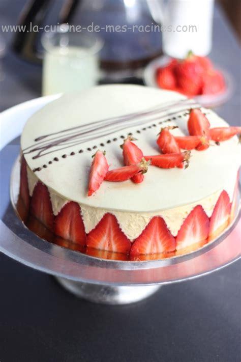 recette fraisier gateau facile