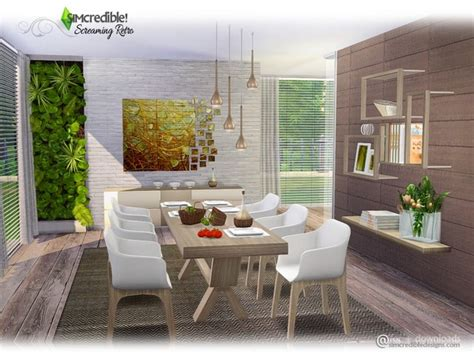 Screaming Retro Diningroom By Simcredible At Tsr » Sims 4