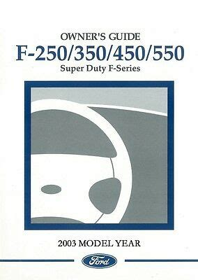 ford    super duty truck owner manual user