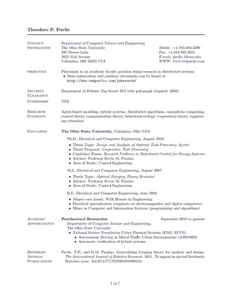 latex resume tamplete computer science printable receipt