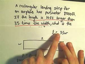 Word Problem Involving The Perimeter Of A Rectangle